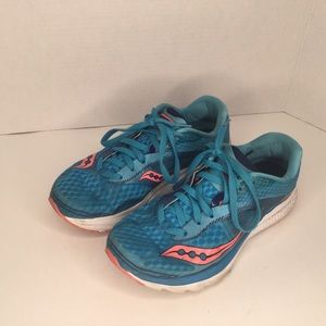 Saucony sneakers running shoes.